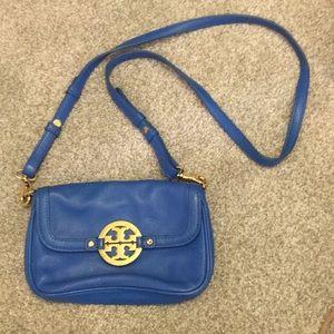 Tory Burch blue shoulder bag  wristlet size